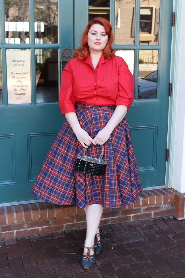 1950s plus size style Vivien of Holloway via Va-Voom Vintage