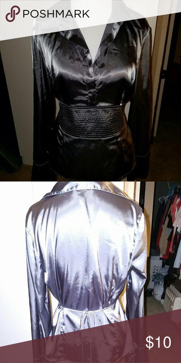 BCX Bluse Satin bluse grey ,elegant and unique BCX Tops Blouses