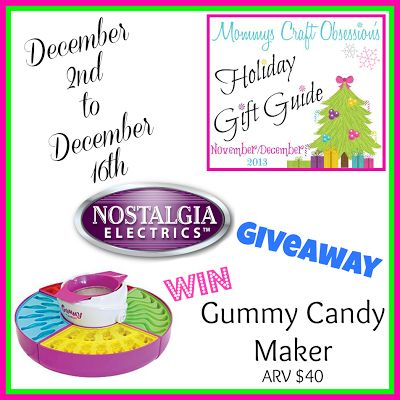 So Sew Mama: Nostalgia Electrics Gummy Candy Maker Giveaway @Alex Harrison (Mommys Craft Obsession)