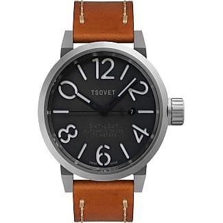 TSOVET SMT-LS47 Steel & Grey Automatic Watch | Tan