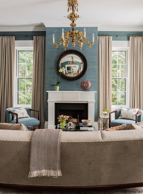 Terrat Elms Interior Designs, #grasscloth #Wallpaper
