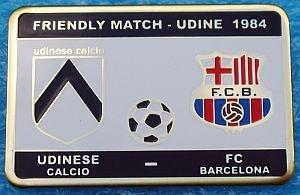 UDINESE CALCIO-F.C. BARCELONA-Amichevole1984
