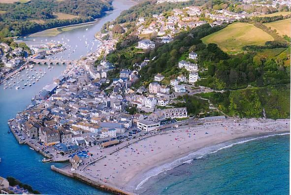 Looe aerial view, Cornwall, South West England, UK
