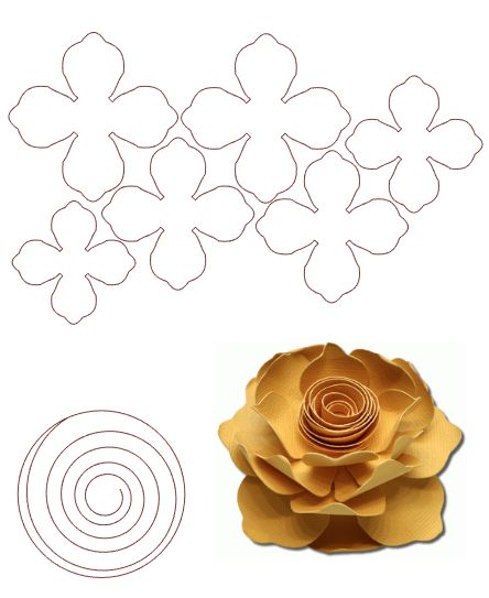 96 best flores papel crepe images on pinterest - Papel de fieltro ...