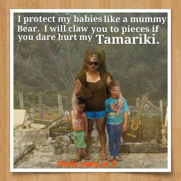 A mum protecting her children. This is me and my two younger sons....2/8