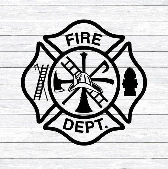 Maltese Cross, Firefighter Svg, Fireman, Fire woman, Svg