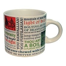 Not a morning person? This coffee mug featuring Shakespeare's best and brilliant insults may fit your mood just right! Take a sip!