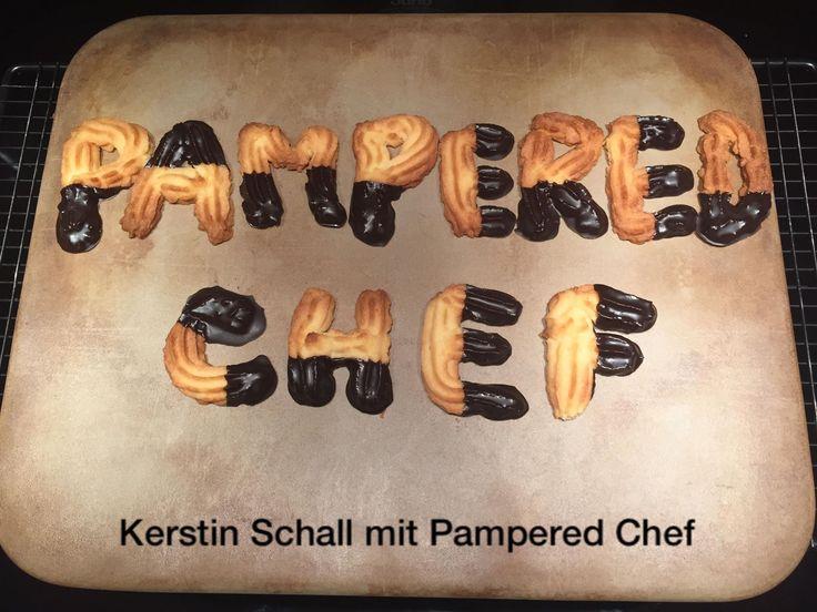 Spritzgebäck #zauberstein#stoneware#garnierspritze#pampered chef