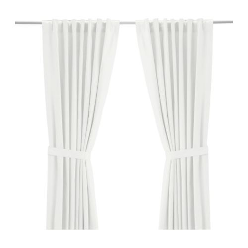 Need 4 of these RITVA Pair of curtains with tie-backs IKEA Light filtering curtain.