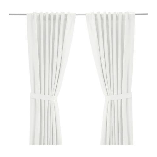 RITVA Curtains with tie-backs, 1 pair IKEA, $35