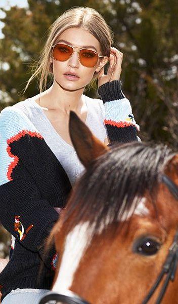 Gigi Hadid for women's Vogue eyewear | EyeWearThese | #vogue #eyewear #glasses #…