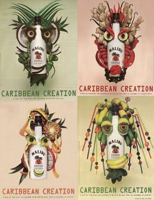 En 2007, Malibu Caribbean Creation s'inspire aussi d'Arcimboldo mais avec une composition simplifiée.