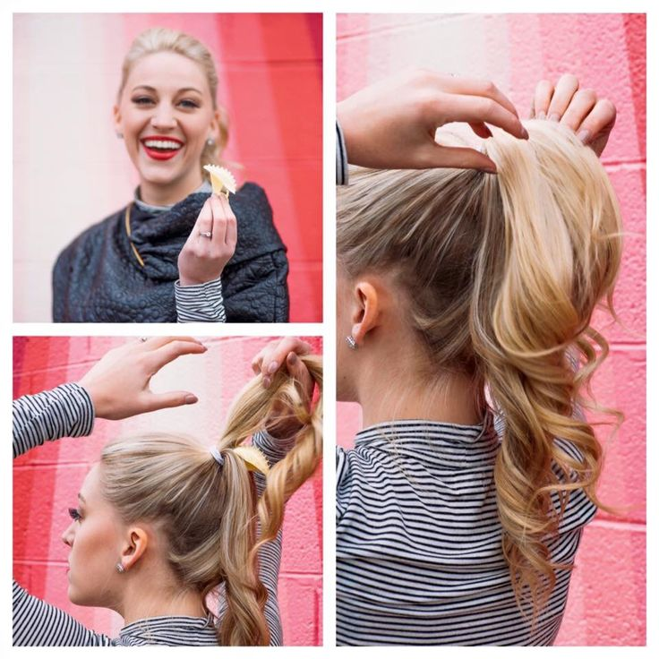 Full Volume Ponytails with just a clip! No extensions! Just your own natural hair, volumized! #perkypony #updo #volumized #ponytail #perfectponytail #fullhair #hairideas #howtojair #hairtutorial