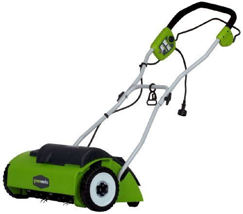 "Greenworks 27022 10 Amp 14"" Corded Dethatcher, 2015 Amazon Top Rated Lawn Mowers & Tractors #Lawn&Patio"