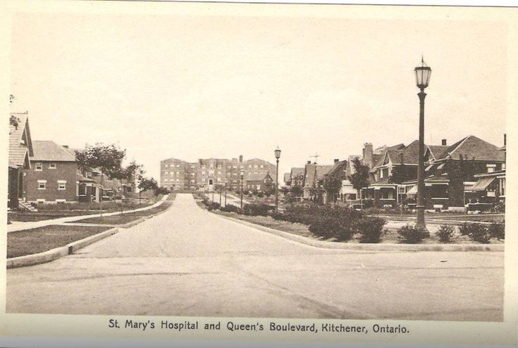 Old picture post card of St.Mary's hospital