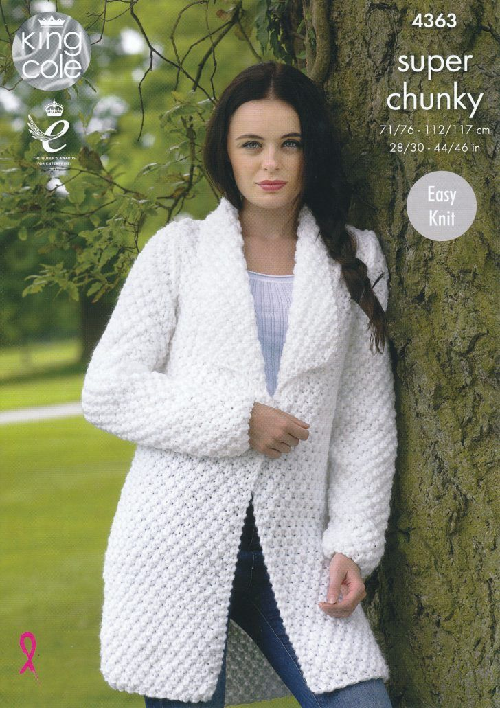 6cdca10bf Knitting Patterns Easy Sweater Ladies Super Chunky Knitting Pattern King  Cole Easy Knit Sweater