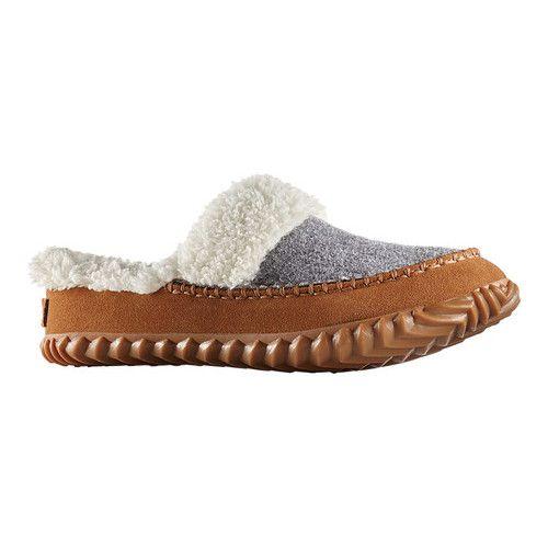 Women's Sorel Out N About Slide – Light Grey/Elk Suede Moccasins – Zapatos