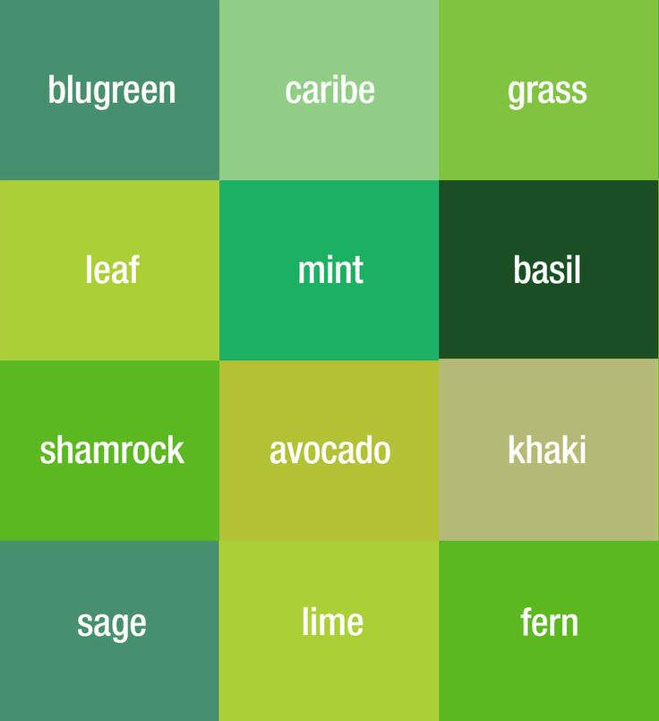17 Best Ideas About Green Color Names On Pinterest Soft