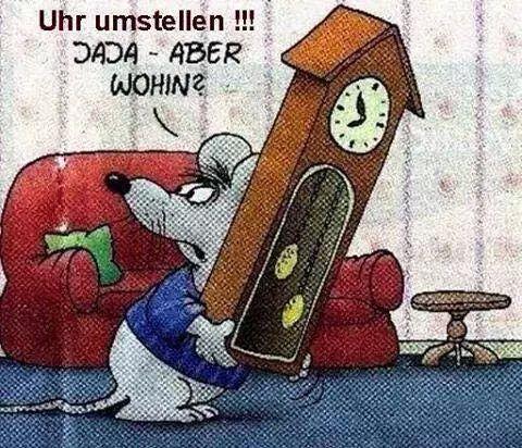 Uhren umstellen!