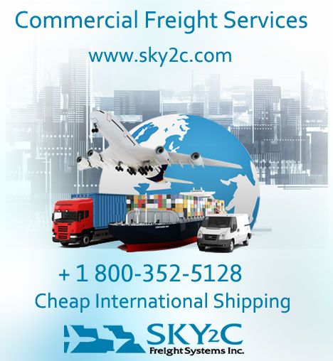 Commercial International Freights by sky2c Freights Systems.