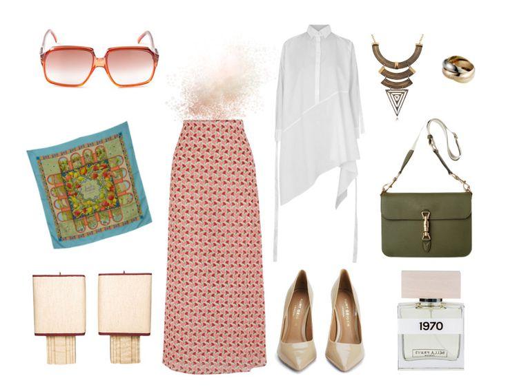 Tesettür Kombin - Günümüzde 70'ler modası - Desenli uzun etek kombini  http://www.yesiltopuklar.com/gecmisten-gelen-trend-70ler.html