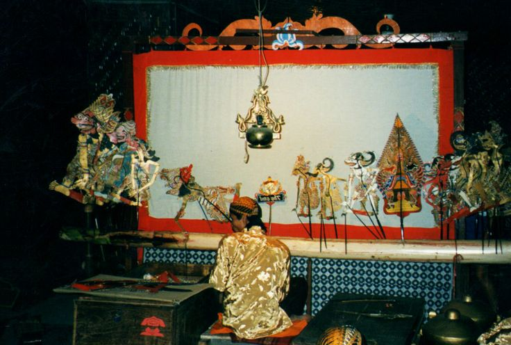 """Shadow puppet theater is called Wayang kulit in Indonesia and it is particularly popular in Java and Bali. The term derived from the word wayang literally means shadow or imagination in Javanese, also connotes """"spirit"""". The word kulit means skin, as the material from which the puppet is made is thin perforated leather sheets made from buffalo skin.  Shadow puppetry is an ancient form of storytelling and entertainment."""