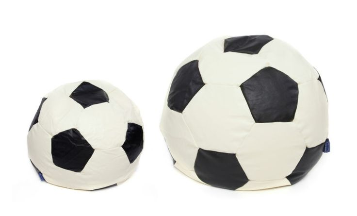 Faux Leather Football Design Bean Bags Available In 2 Sizes X Large 3 Cubic Feet/ Large 6 Cubic Feet 50x50x50cm/70x70x70cm Available in colors Black and Cream , Light Blue and Cream and Light Red and Cream , Navy Blue and Cream The Colors will match Manchester United, Manchester City, Everton, Chelsea and Liverpool Fans