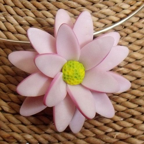 Daisy Polymer Clay Necklace by AnnaMadeThis on Etsy, £18.00