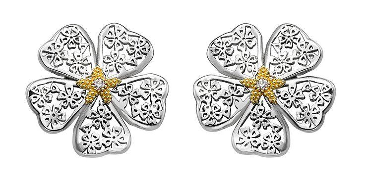 Pendientes plata Flor de almendro