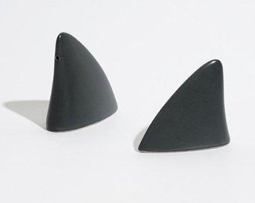 Shark Fin Salt & Pepper Shakers. Um, I need these.