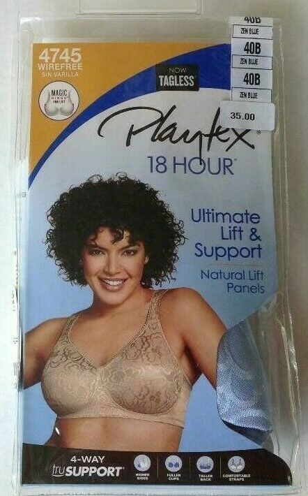 0e8aabf71bc Playtex 18 Hour Bra 40B Ultimate Lift   Support 4745 Zen Blue Natural Lift   fashion