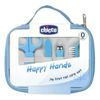 CHICCO Italy Happy Hands Manicure Set Gunting Perawatan Kuku Bayi - Biru | Lazada Indonesia