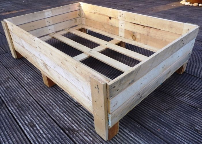 Container gardening diy planter box from pallets grow for How to make a flower box out of pallets