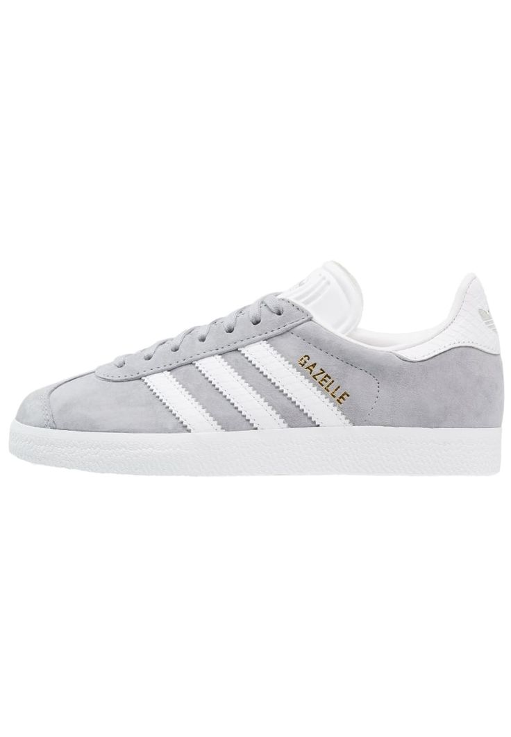adidas Originals GAZELLE - Trainers - mid grey/white/gold metallic for with  free delivery at Zalando