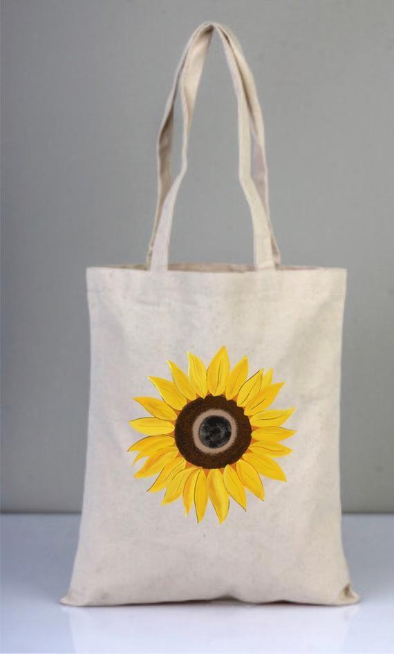 sunflower lover gift All Over Print Beach Bag Orange Sunflower Tote Sunflower Sunflower Tote Bag Floral Bag Sunflower Bag