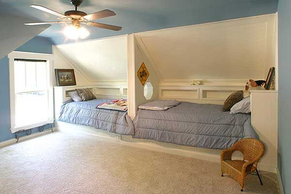 I love this. Compact and space-saving, but sleeker than bunks!