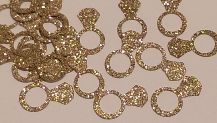 Rings Gold Confetti- Round Confetti- Bridal Shower Decor- Gold Decor- Wedding Decor-Gold Ring Wedding Decor by LaVignesLilMiracles on Etsy https://www.etsy.com/listing/236102081/rings-gold-confetti-round-confetti