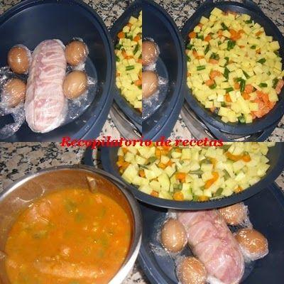 """Recopilatorio de recetas thermomix: Lentejas, rollo de pollo al vapor y ensaladilla rusa """"cocina en niveles"""" en Thermomix"""