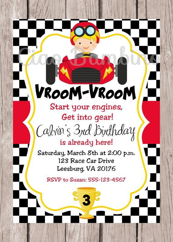 Car Themed Party Set Of 10 Boys Birthday Party Invitation Car Themed Birthday Party Race Car Birthday Party Invitation Paper Party Supplies Invitations Announcements