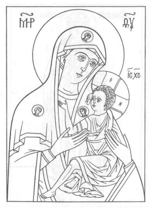 """Раскраски : Детская страничка : Церковь иконы Божией Матери """"Всех ..."""