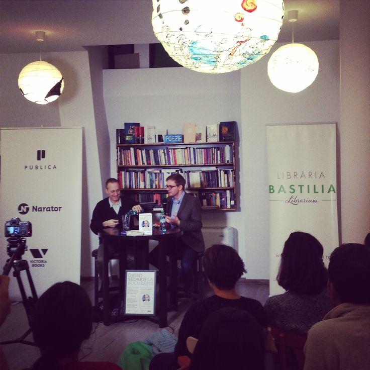 David Sedaris la București! Lansarea cărții În pielea goală.  #davidsedaris #bucharest #booklaunch
