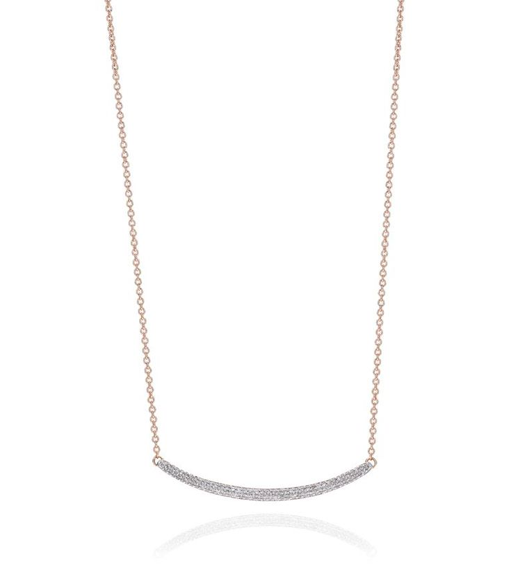 MONICA VINADER Skinny Curve Diamond Necklace. #monicavinader #