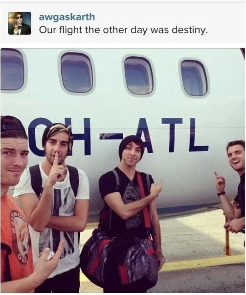 in monopoly they have all the airports, and I scared the hell out of my family because we were playing and I landed on the ATL airport and screamed really loud OH MY GOD ITS THE ALL TIME LOW AIRPORT TAKE ALL MY MONEY I NEED IT. so yeah XD