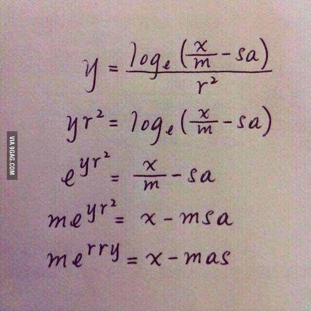 Merry Christmas to all math-lovers! - 9GAG