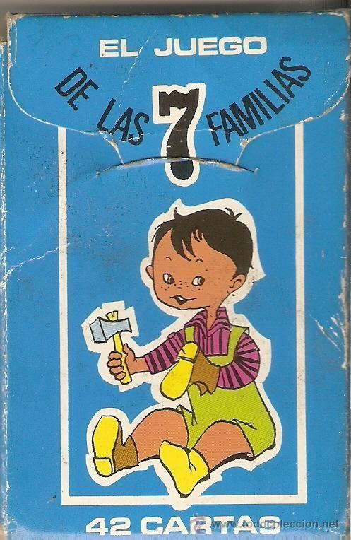 EL JUEGO DE LAS 7 FAMILIAS*OFICIOS*EN ESTUCHE ORIGINAL*AÑO 1963*COMPLETO* (Juguetes y Juegos - Barajas - Barajas Infantiles)