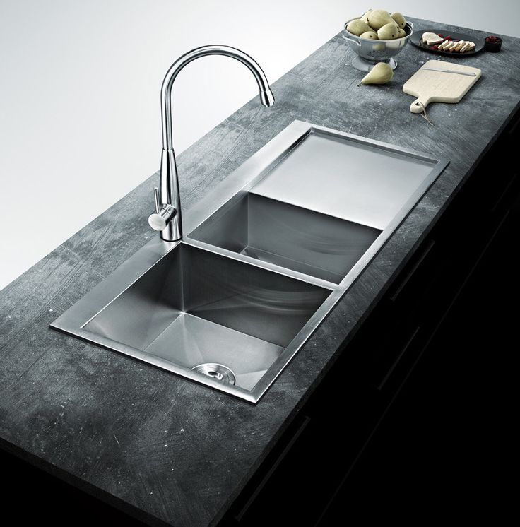 """BAI 1235 - 48"""" Handmade Stainless Steel Kitchen Sink Double Bowl With Drainboard Top Mount 16 Gauge"""