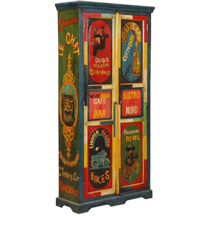 Armadio Due Porte Sheesham Legno WD-6036182 X 88 X 35 CM   Arts of India – Italy
