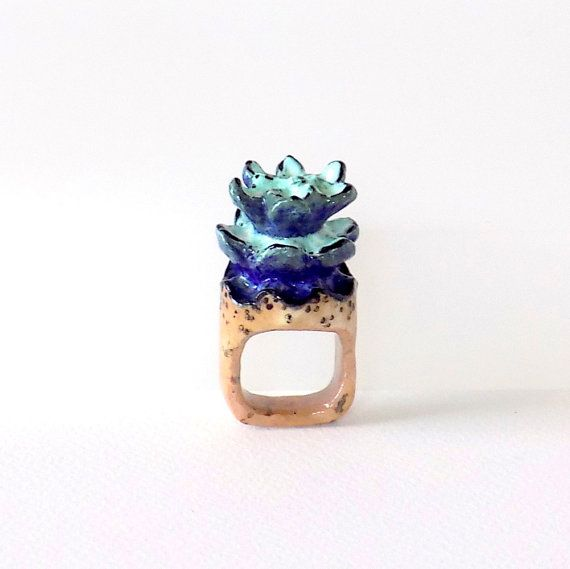 Ring, Unique jewelry, ooak jewelry, Statement ring, Cork Jewelry, Art jewelry, Gifts for Her, Flower ring