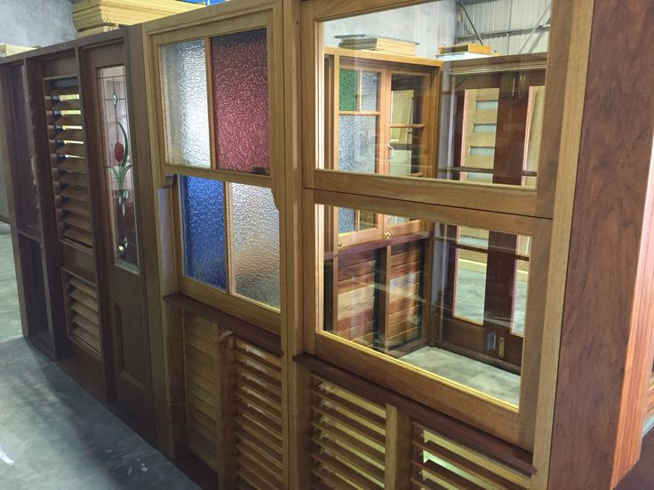 Timber louvres and stained glass windows