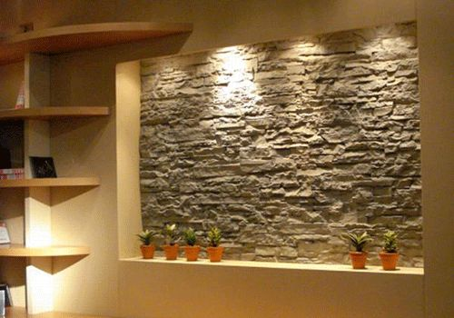 designs natural bedroom stone veneer decorative walls wall design home